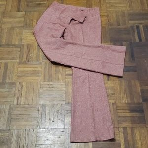 Red tweed vintage flare pants